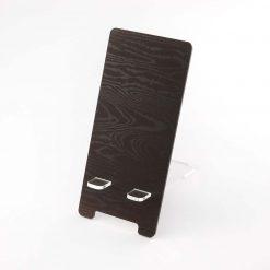 Dark Wood Effect Printed Acrylic Mobile Phone Display Stand