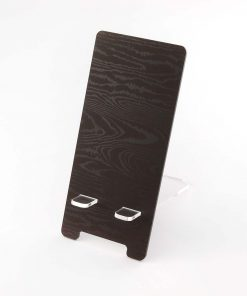 Dark Wood Effect Printed Acrylic Mobile Phone Display Stand