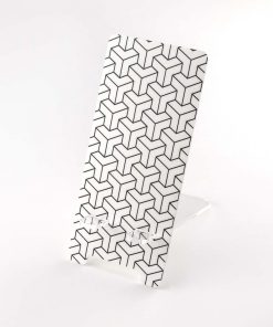 Geometric Arrows Printed Acrylic Mobile Phone Display Stand