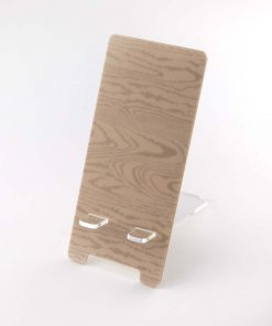 Light Wood Effect Printed Acrylic Mobile Phone Display Stand