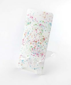 Paint Splatter Printed Acrylic Mobile Phone Display Stand
