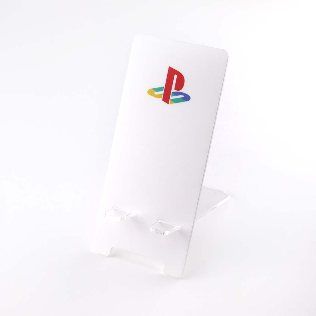PlayStation Logo Printed Acrylic Mobile Phone Display Stand
