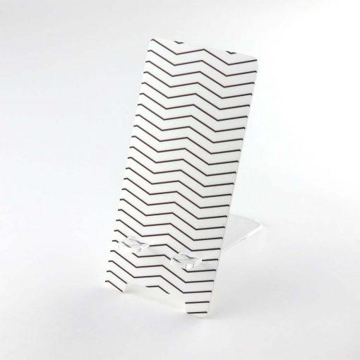 Zig Zag Pattern Printed Acrylic Mobile Phone Display Stand