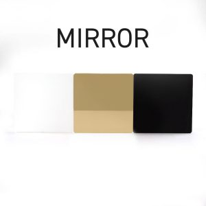 Gold Mirror Acrylic Swatch