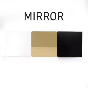 Gold Mirror Acrylic Swatch