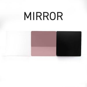 Rose Gold Mirror Acrylic Swatch
