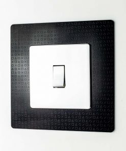 Stealth PlayStation Symbols Design Printed Acrylic Light Switch Surround