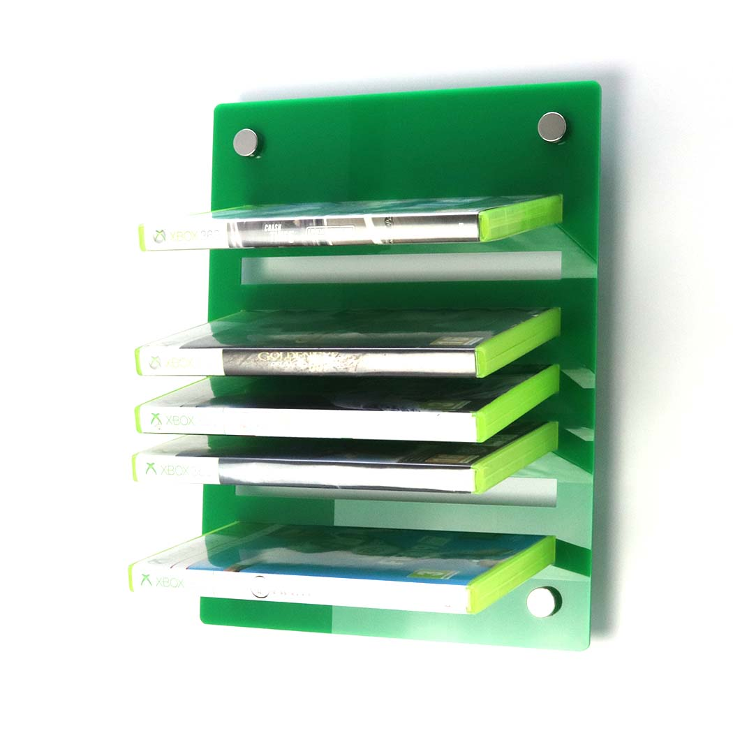 Acrylic Xbox 360 Wall Mounted Game Display Rack