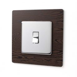 Dark Wood Effect Light Switch Surround