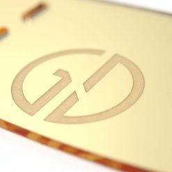 Gold Mirror Controller or Console Stand Close Up