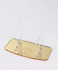 Gold Mirror Console Display Stand