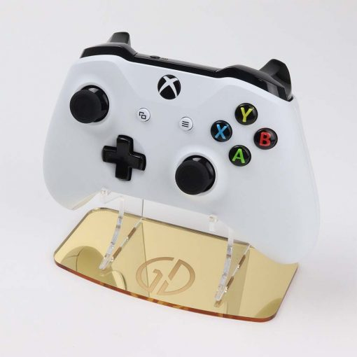 Acrylic Gold Mirror Controller Display Stand