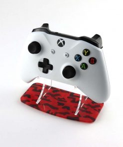 Red Camouflage Xbox One Printed Acrylic Controller Display Stand