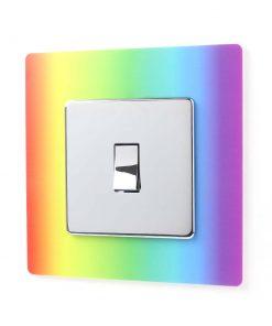Rainbow Design Printed Acrylic Single Light Switch Surround