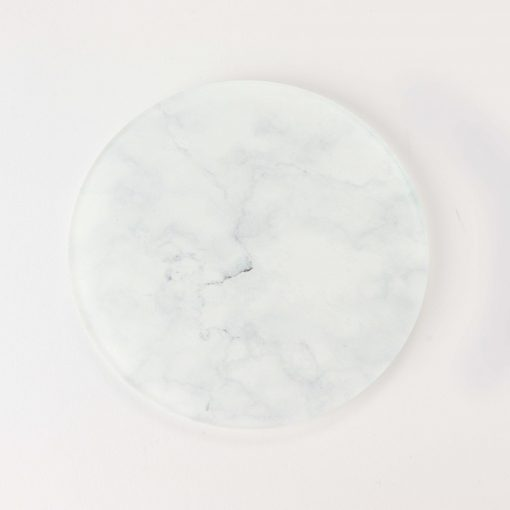 White Marble Effect Printed Acrylic Gaming Coaster