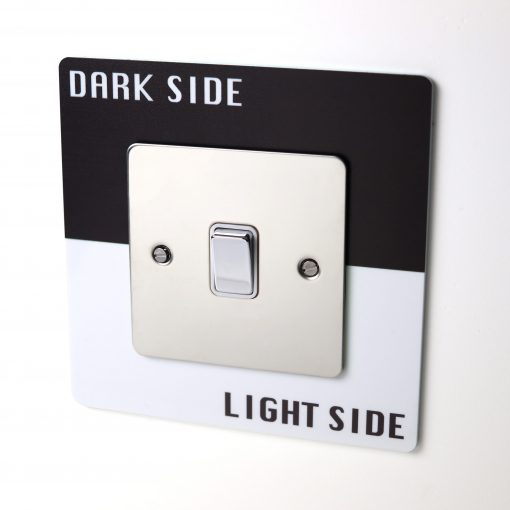 Star Wars Themed Dark Side Light Side Light Switch Surround