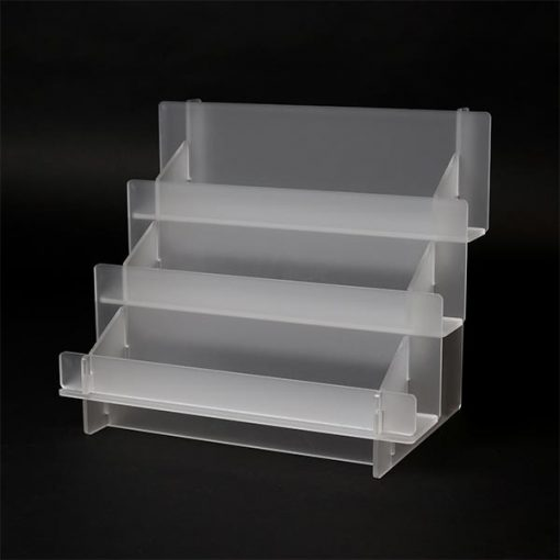 3 Tier Frosted Display Rack