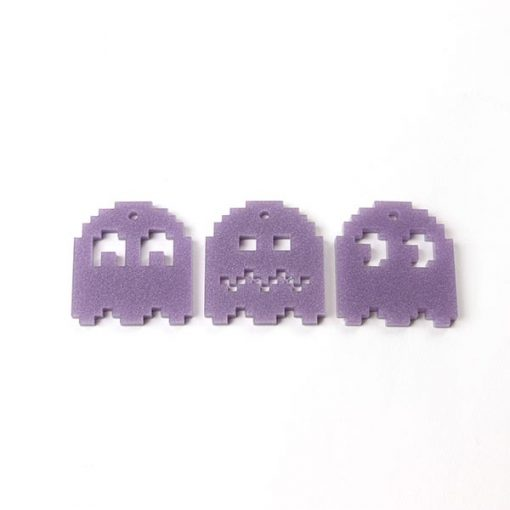 Pixel Pac Man Ghost Acrylic Charms