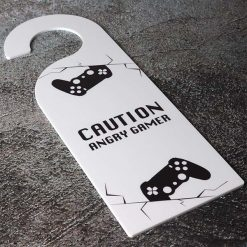 Caution Angry Gamer Printed Acrylic Door Hanger
