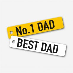 Best Dad Number Plate Key Ring Pair