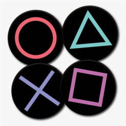Round PS Buttons Set
