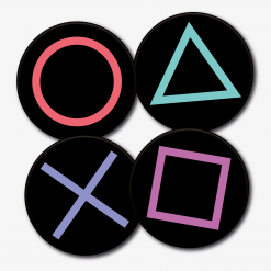 Round PlayStation Buttons Coaster Set