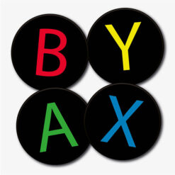 Round Xbox Buttons Set
