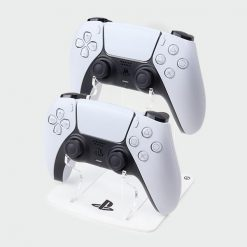 PlayStation Logo PS5 White Double Controller Stand