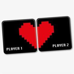 Player 1 Player 2 Coaster Set