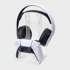 Subtle Buttons PS5 Dual Controller & Headset Printed Acrylic Display Stand